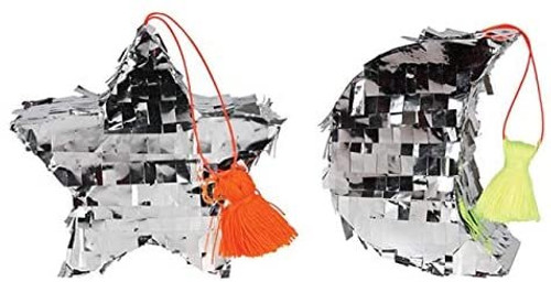Meri Meri Moon & Star mini Piñata Ornaments (2), Piñata Tree Decoration, Twinkle Twinkle