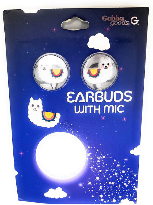Gabba Goods Llama Earbuds with Mic