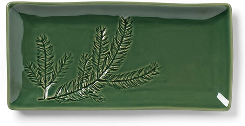 Lenox Holiday Impressions Rectangular Tray, 0.0, Red & Green