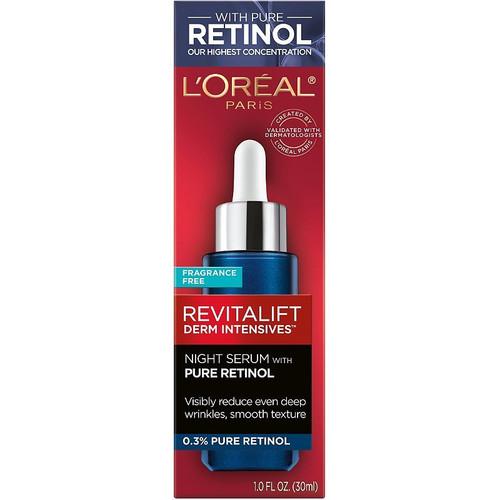 L'Oreal Paris Revitalift Night Serum with 0.3% Pure Retinol, 1 ounce