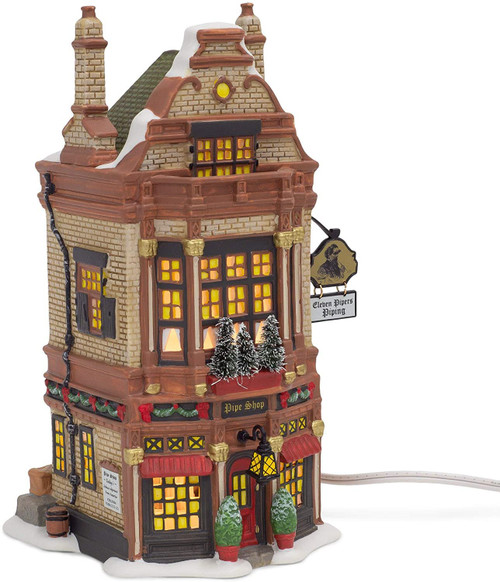 Department 56 Dickens Village Eleven Pipers Piping Shop Lit Building, 8.54 Inch, Multicolor