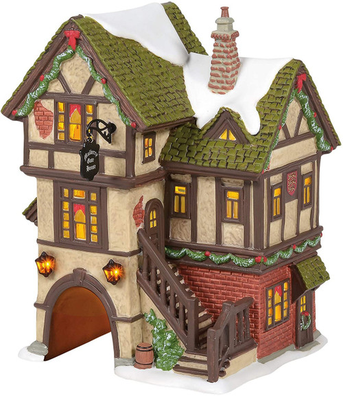 Department 56 Dickens Village The Mulberry Gate House Lit Building, 7.25 Inch, Multicolor