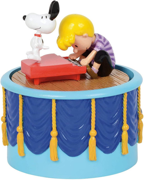 """Department 56 Villages Peanuts Snoopy Dancing Animated Musical Figurine, 3.7"""""""