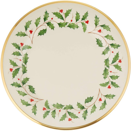 Lenox Holiday Dinner Plate, 1.65 LB, Red & Green