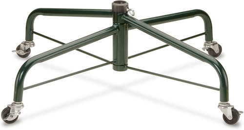 """National Tree Company Christmas Tree Stand Includes Rolling Wheels, 28"""", Fits 1.25 Inch Pole"""