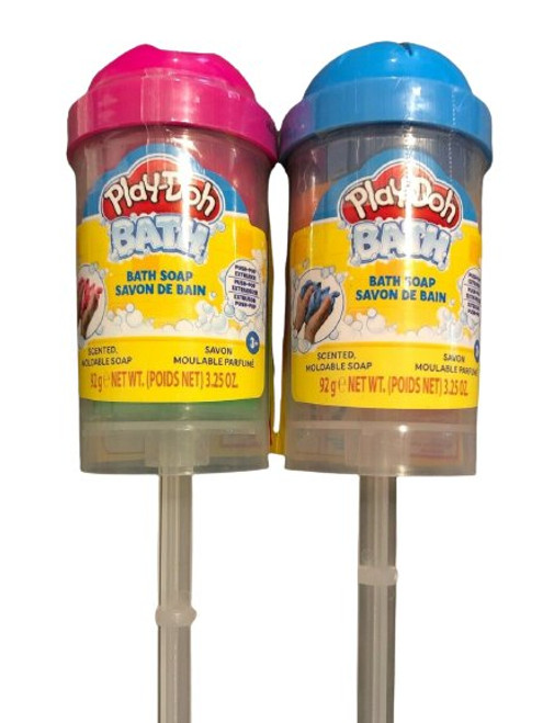 Play-Doh Bath Soap Scented Moldable Soap, 2 Pack, Pink & Blue