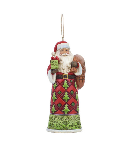 Jim Shore Annual Hanging Santa with Toy Bag, 6008714FD