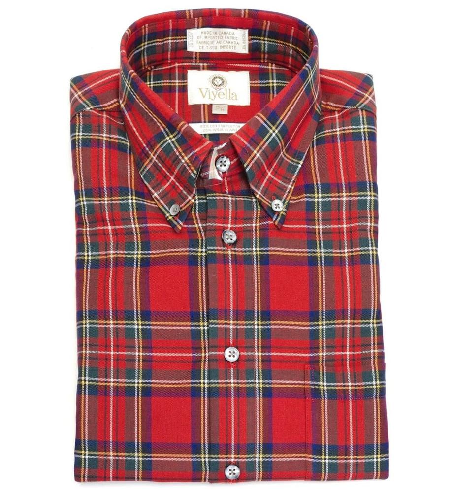 Royal Stewart Tartan Button-Down Shirt by Viyella
