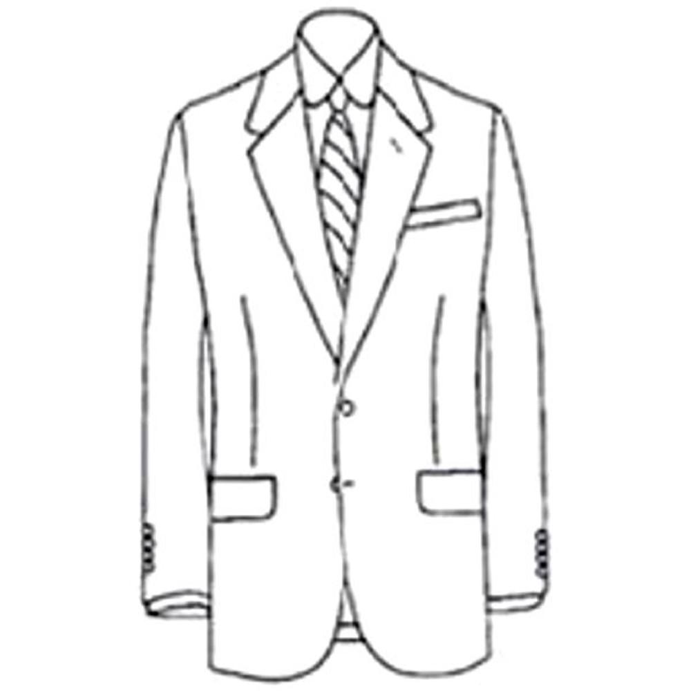 Super 120's Worsted Wool 2-Button Navy Elite Blazer by Corbin