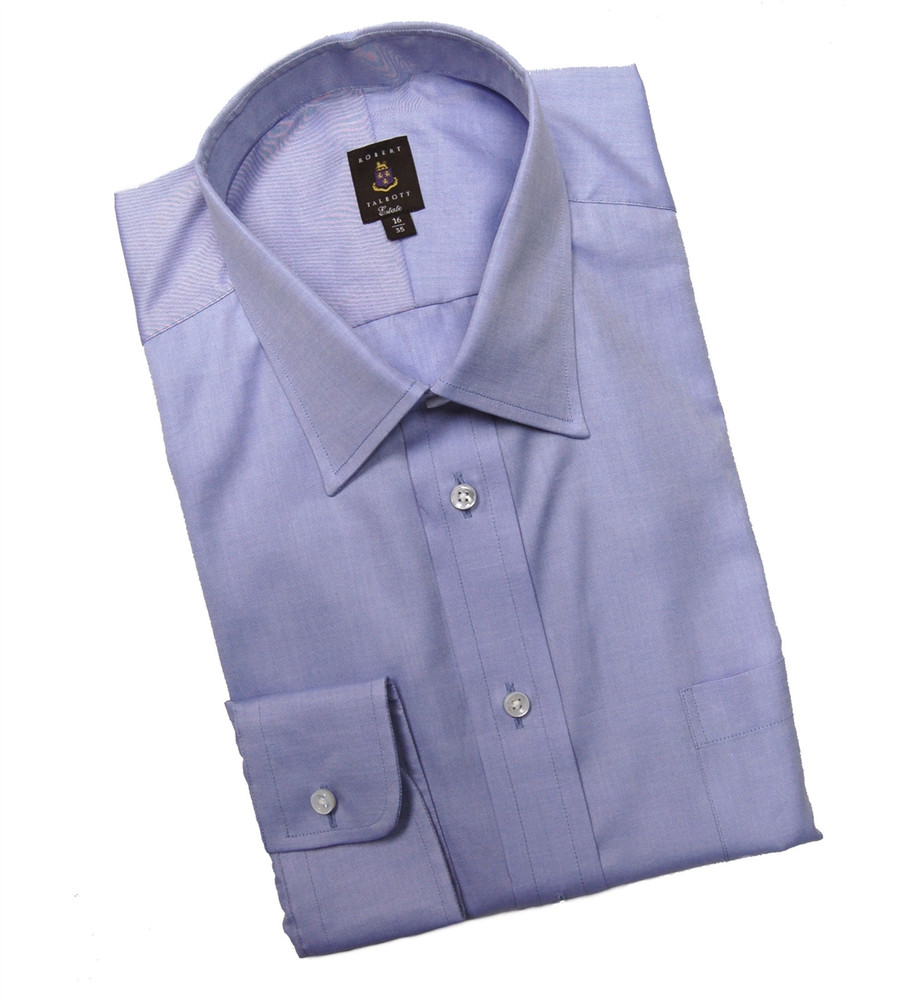 Blue Fine Twill Estate Dress Shirt by Robert Talbott
