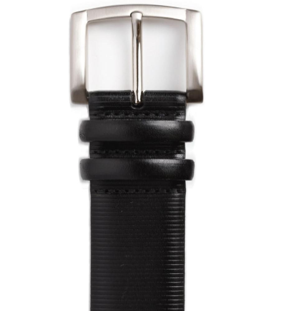 'Point Lobos' Italian Kipskin Belt in Black (Size 34) by Robert Talbott