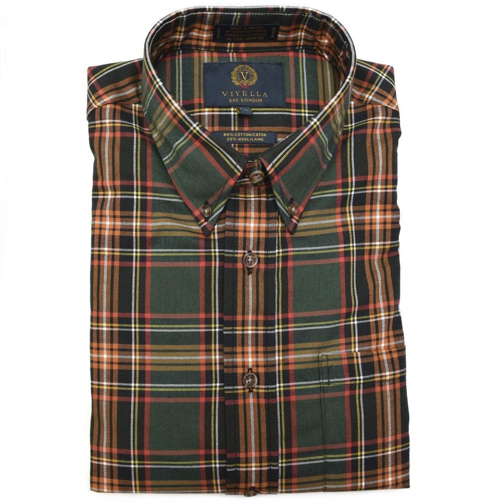 Hunter Watch Tartan Button-Down Shirt by Viyella