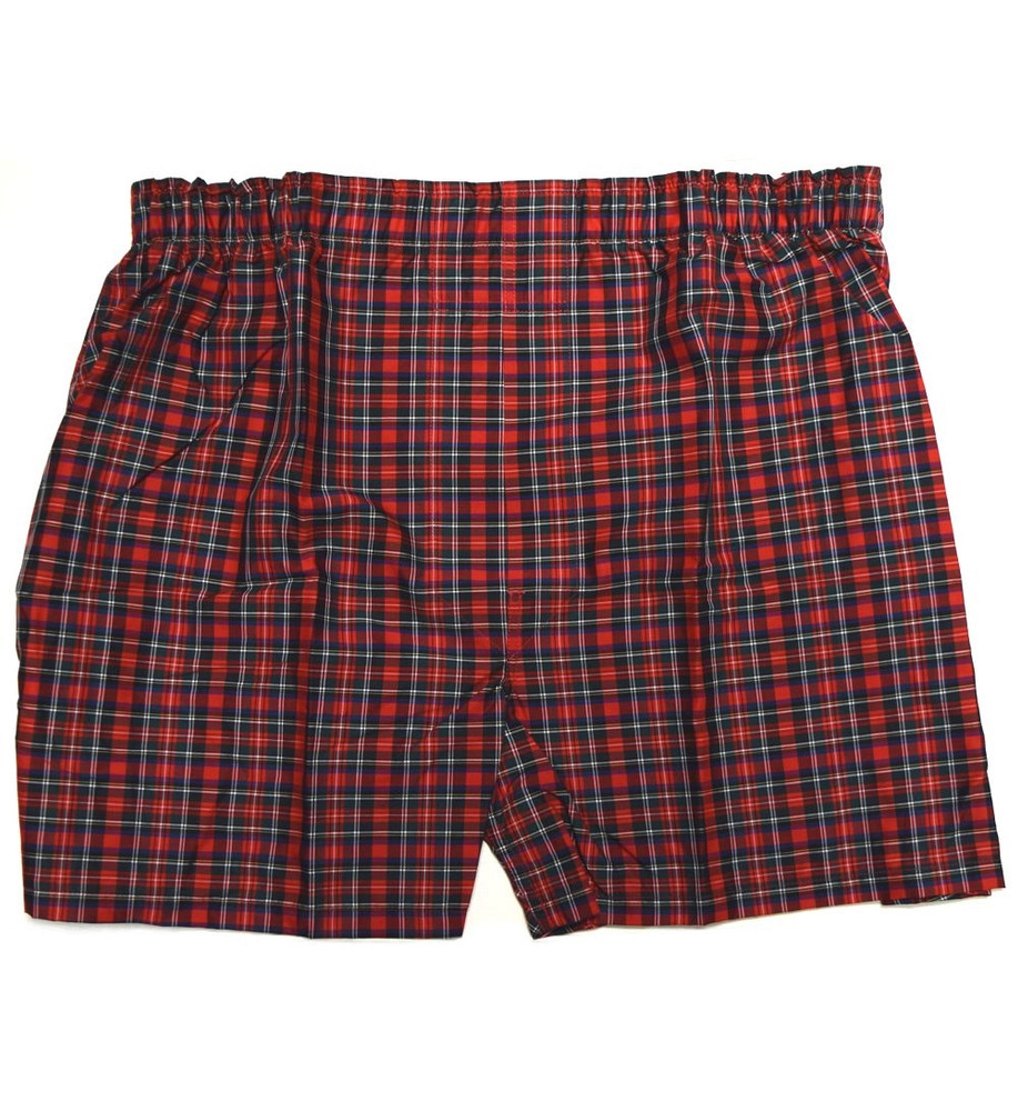 Premium Combed Cotton Boxer in Red Check by Tiger Mountain