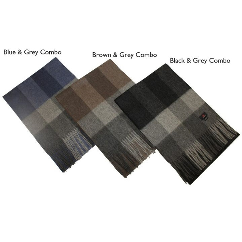 'Denali' Merino Wool and Cashmere Scarf in Choice of Colors by Alashan Cashmere