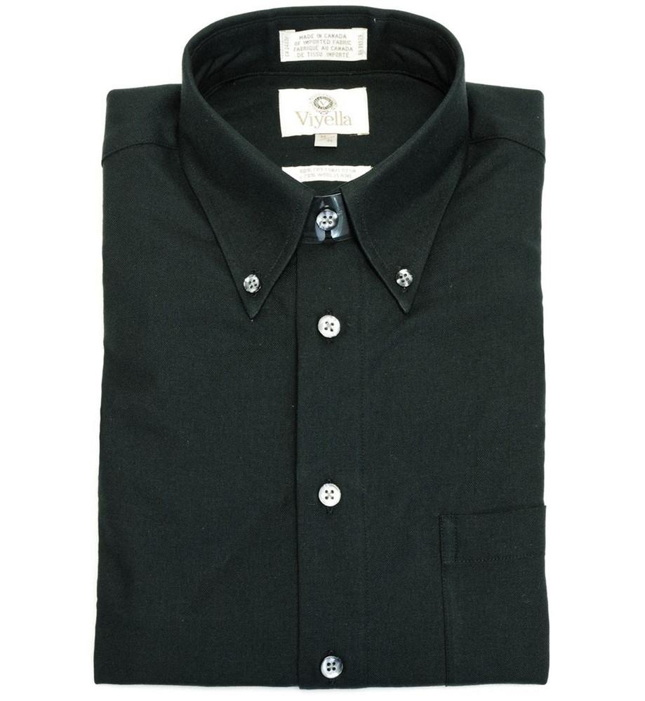 Black Button-Down Shirt by Viyella