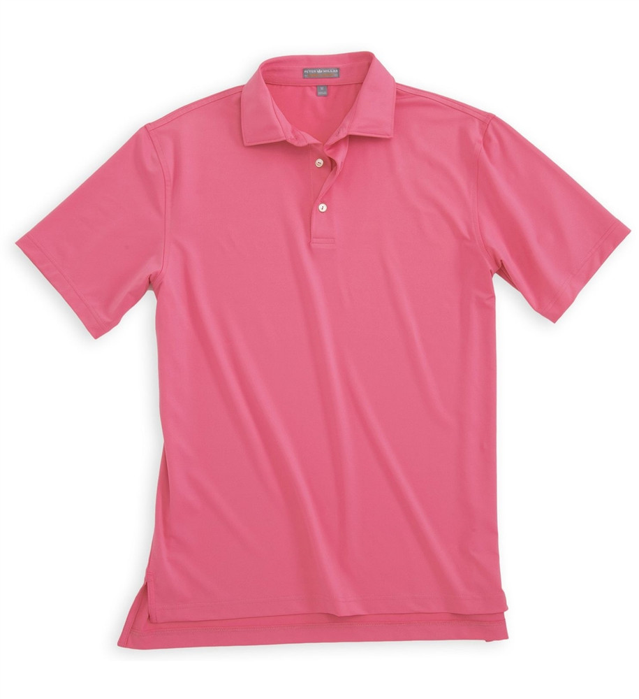 9616a3f22 Solid E4 Summer Comfort Stretch Jersey Polo in Candy by Peter Millar -  Hansen's Clothing