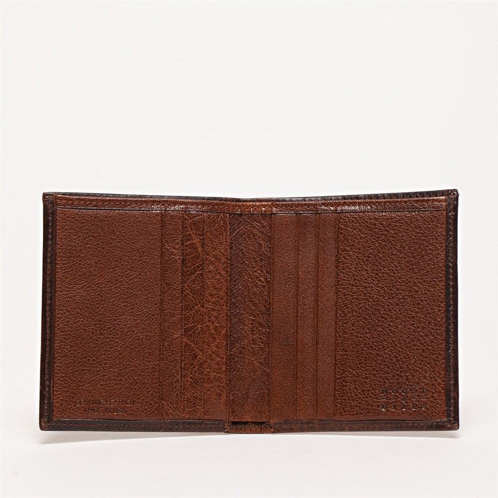 Compact Wallet in Brompton Brown by Moore & Giles