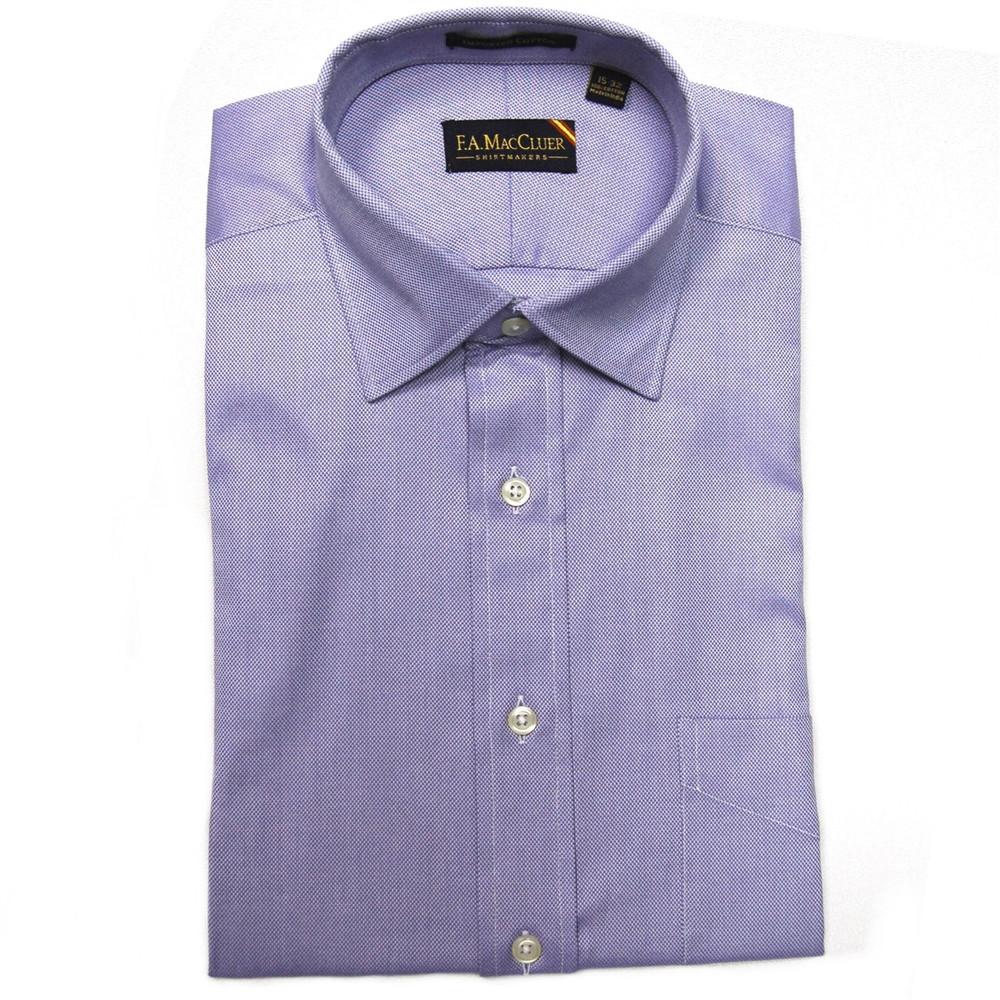 8639c7d8 Blue 80's 2-Ply Royal Oxford Dress Shirt (Size 14 1/2 - 33) by F.A.  MacCluer - Hansen's Clothing