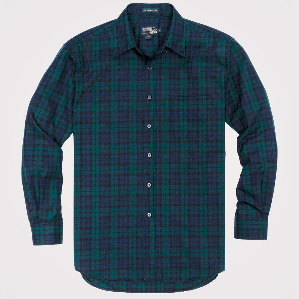 Black Watch Tartan Sir Pendleton Wool Shirt by Pendleton