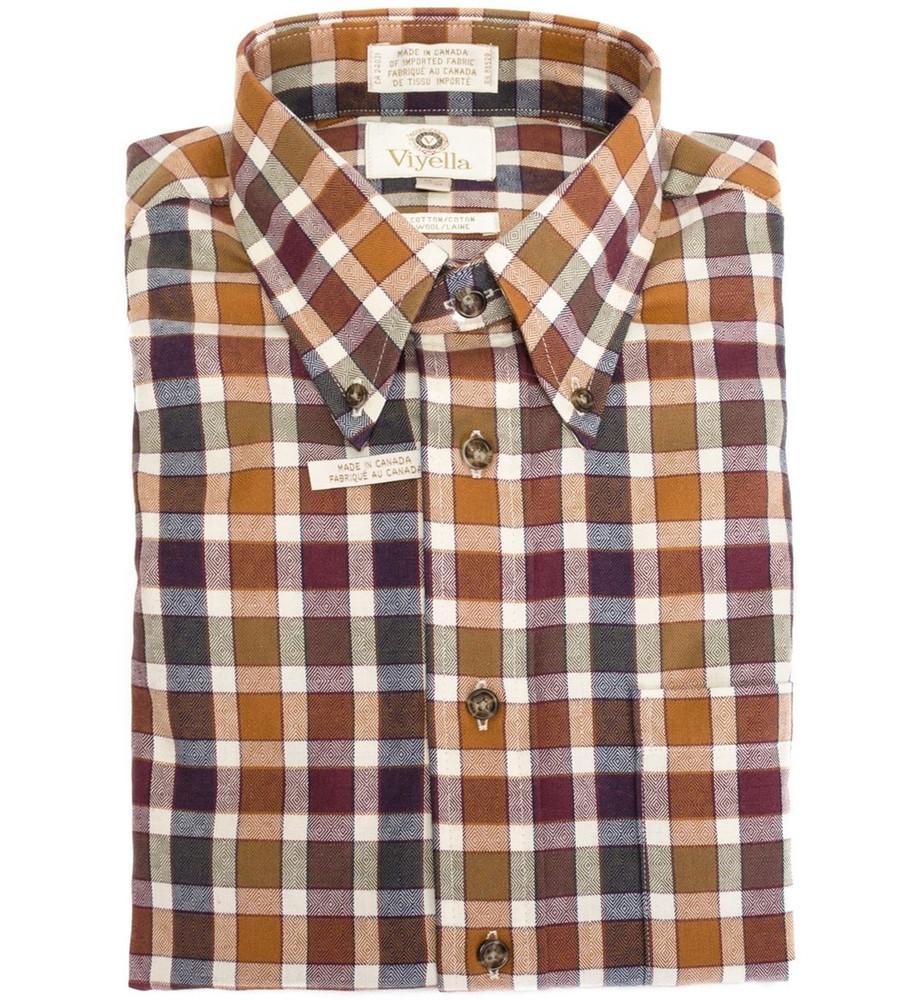 Spice, Sage, and Burgundy Plaid Shirt (Size XXX-Large Tall) by Viyella