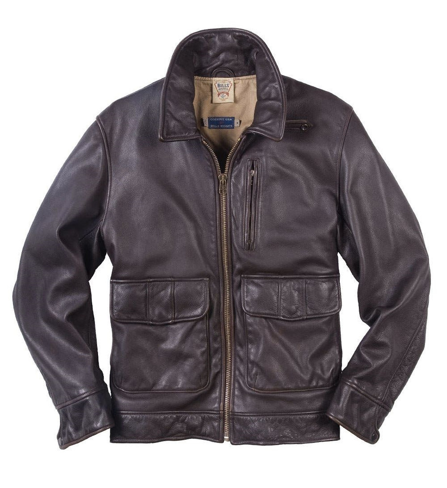 The Bowery Jacket in Dark Brown Leather (Size X-Large) by Bills Khakis