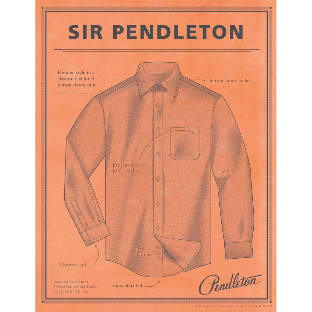 Green Check Sir Pendleton Wool Shirt by Pendleton