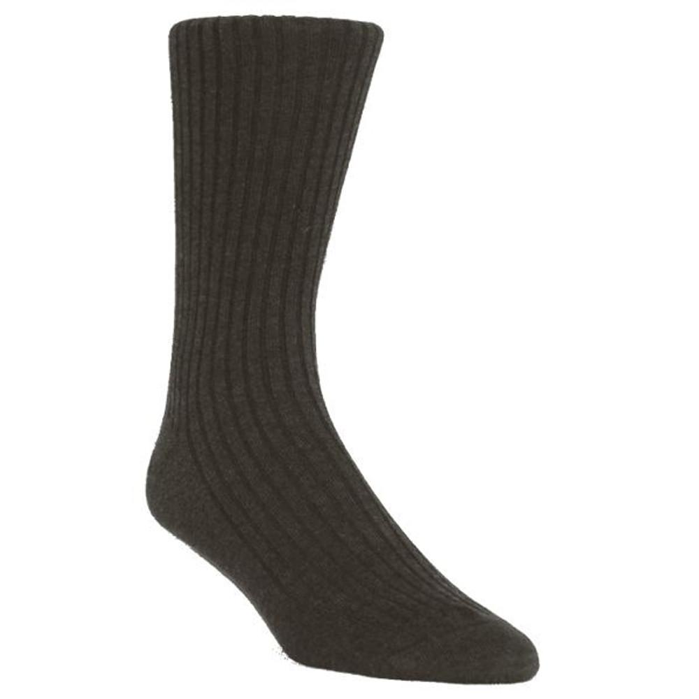 Island 4x2 Rib Cotton Socks in Mid-Calf (6 Pair) by Byford