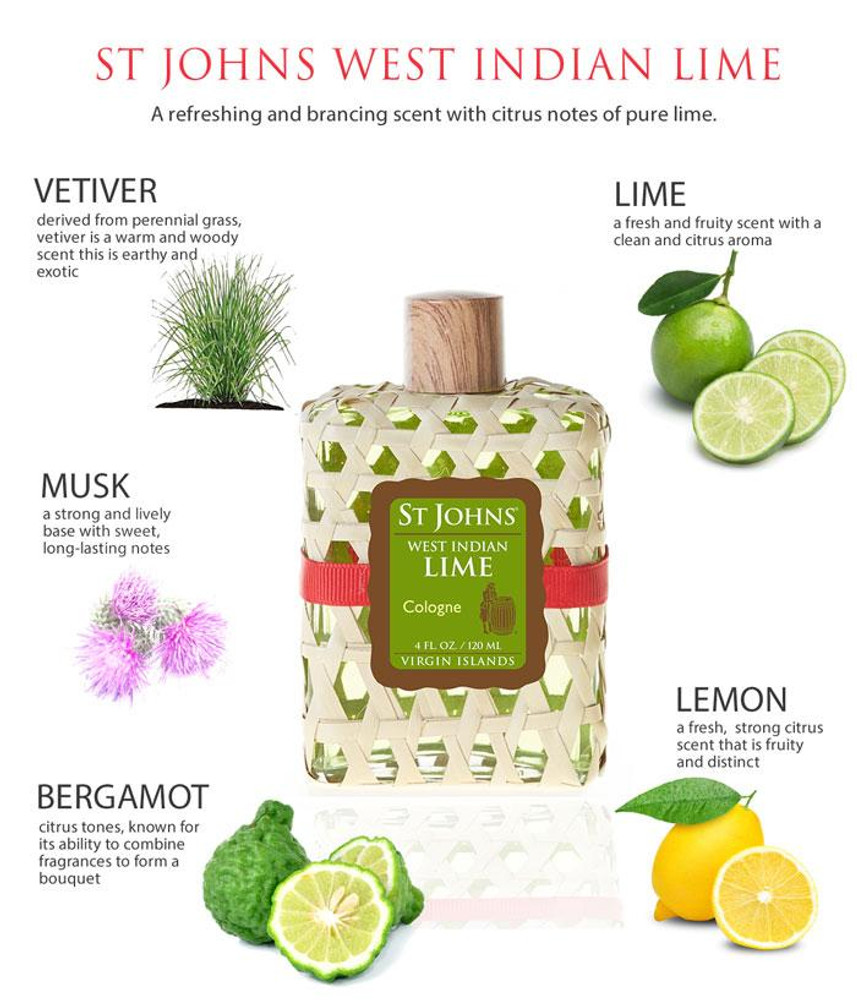 'West Indian Lime' Cologne Spray by St Johns