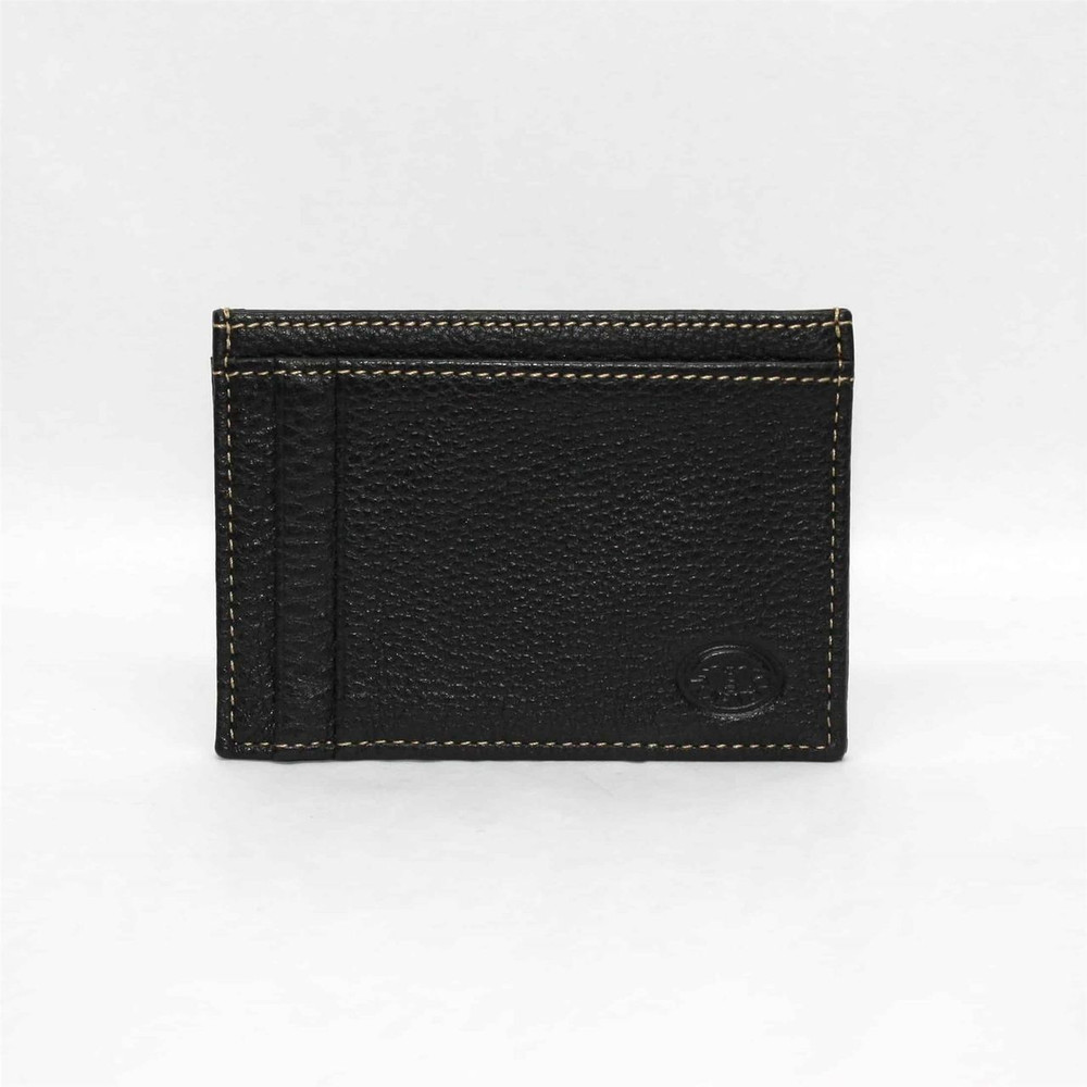 Tumbled Glove Leather ID/Card Case in Black by Torino Leather Co.