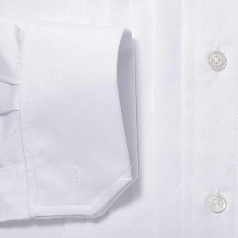 Gitman Spread Collar Ten Pleat Tuxedo Shirt French Cuff