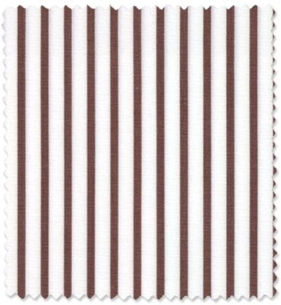 Brown and White Stripe Custom Dress Shirt by Robert Talbott