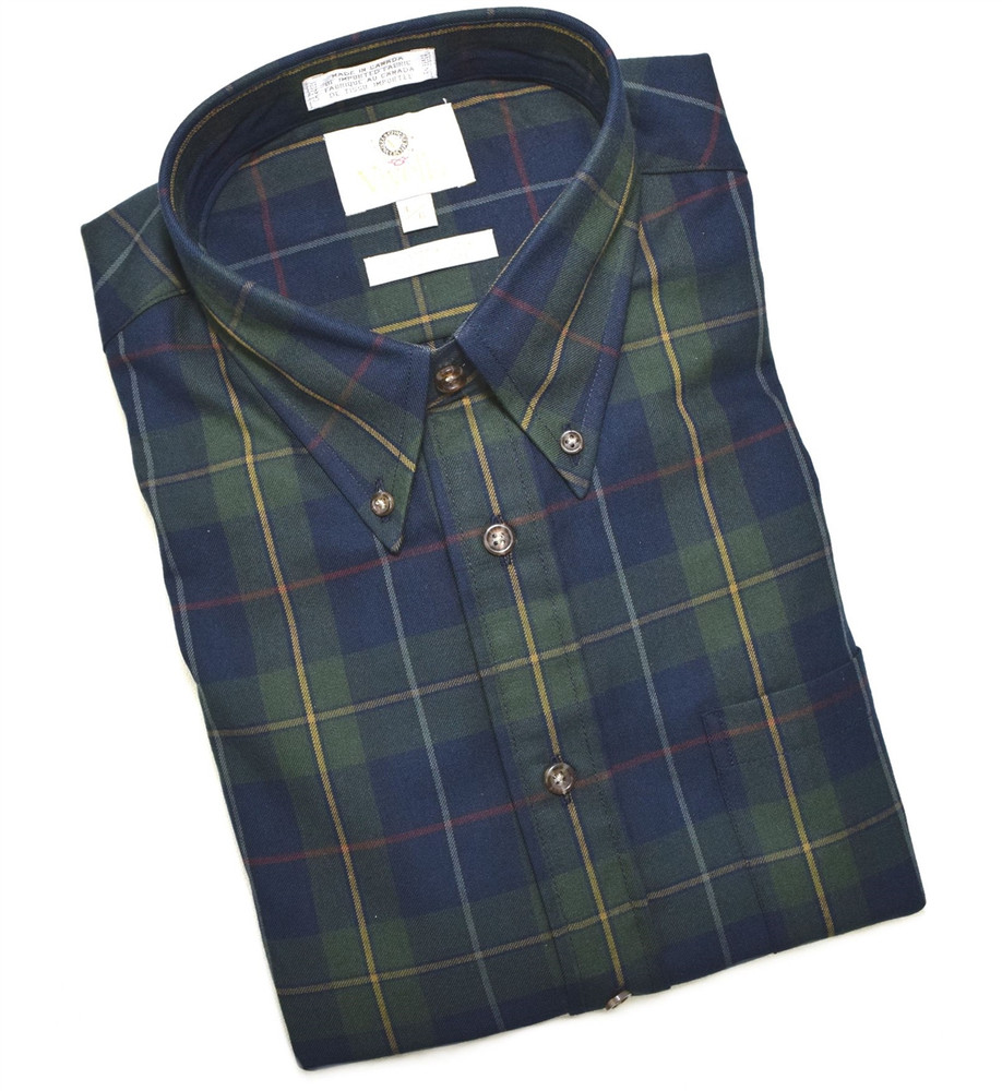 Hunter and Navy Plaid Shirt by Viyella