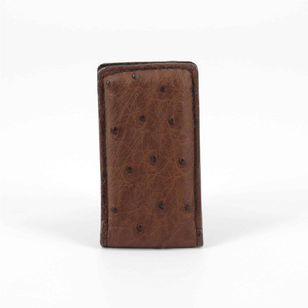 Genuine Ostrich Magnetic Money Clip in Brown by Torino Leather Co.