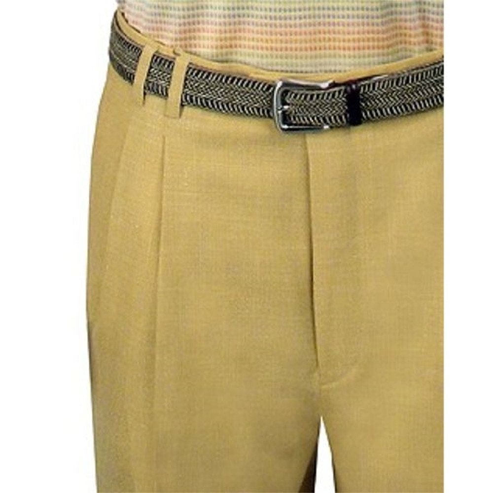 High Performance Linen Blend Trouser in Ginger (Size 50 Only) by St. Croix