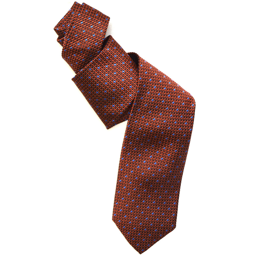 2129ad3e504a Best of Class Orange and Blue 'Archive' Woven Silk Tie by Robert Talbott -  Hansen's Clothing