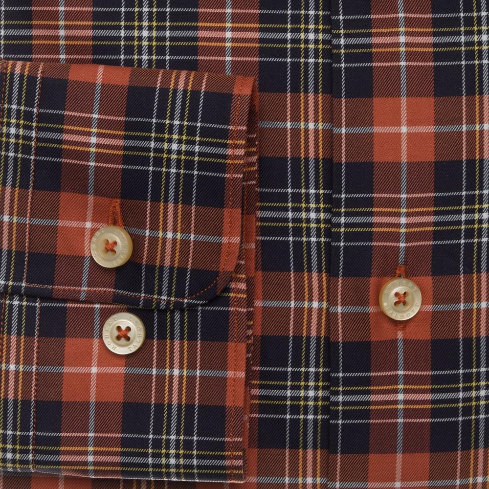 Ember and Brown Plaid Sport Shirt by Robert Talbott