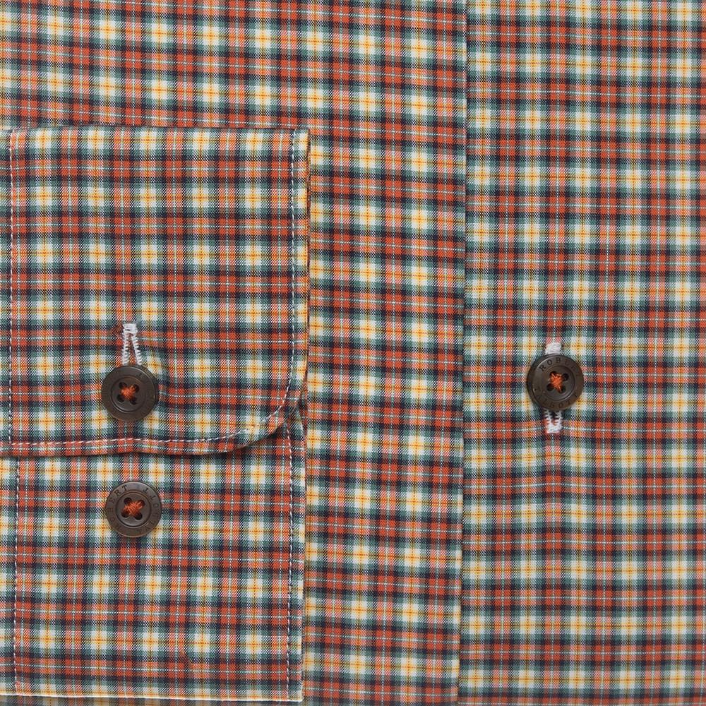 Pumpkin Plaid Sport Shirt by Robert Talbott