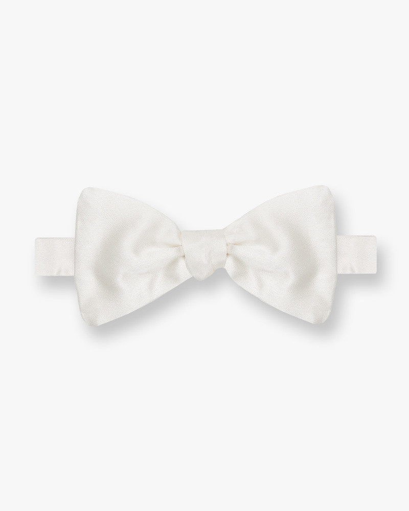 Silk Off White Satin Bow Tie by Gitman Brothers