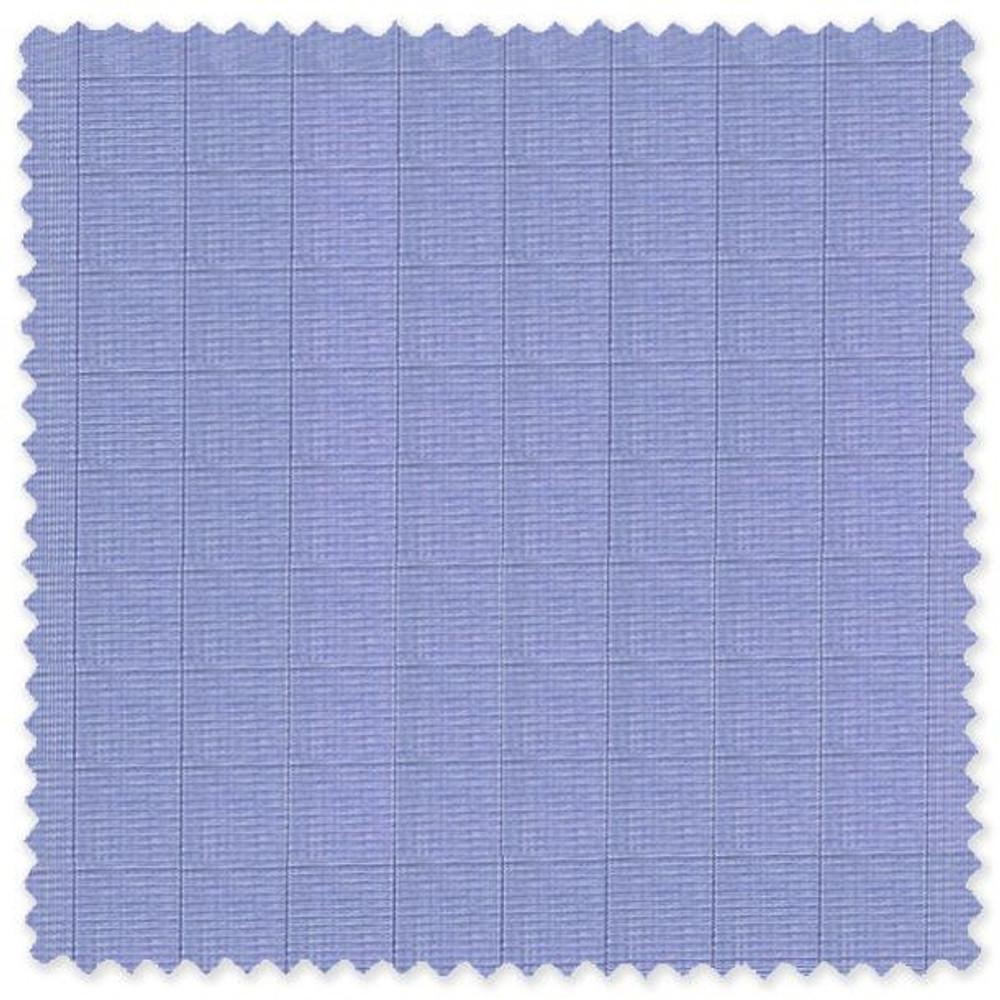 Blue and Navy Glen Plaid Cotton Broadcloth Custom Dress Shirt by Skip Gambert