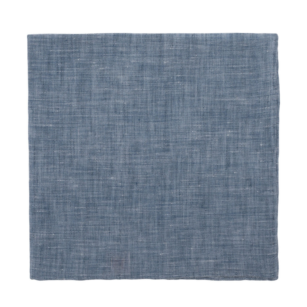 Blue Linen Pocket Square by Robert Talbott