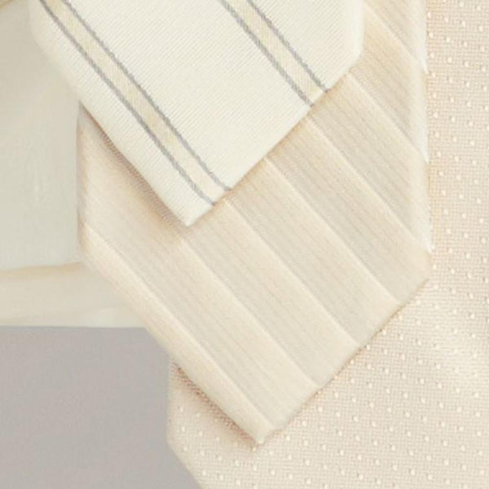 Cream Shadow Stripe 'Robert Talbott Protocol' Hand Sewn Woven Silk Tie by Robert Talbott