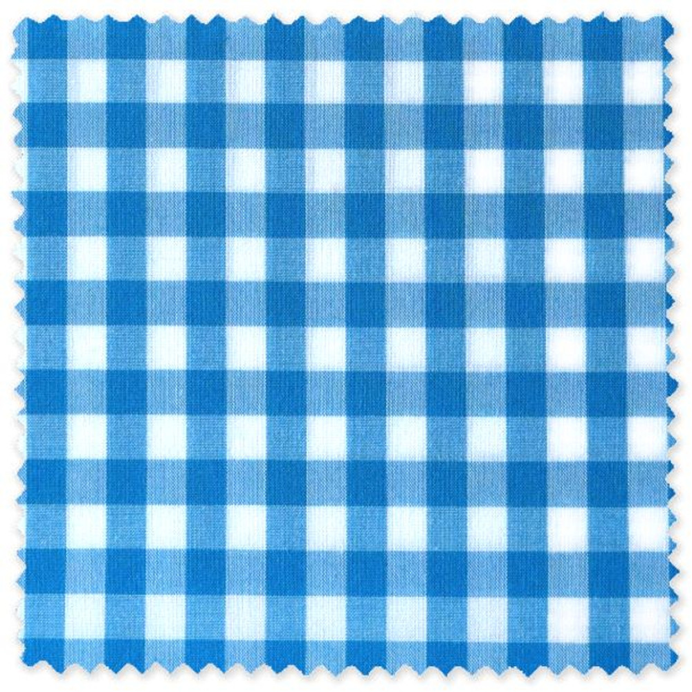 Bright Blue and White Check Custom Dress Shirt by Robert Talbott