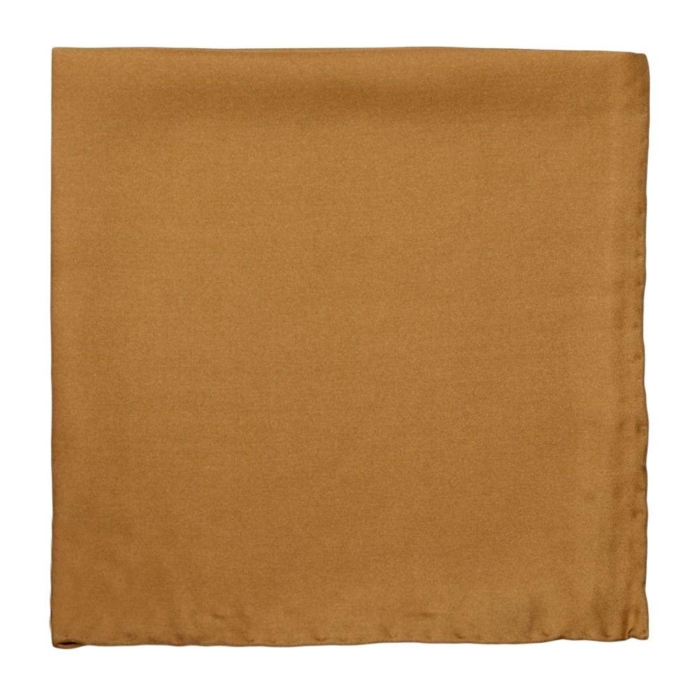 Solid Silk Pocket Square in Mustard by Robert Talbott