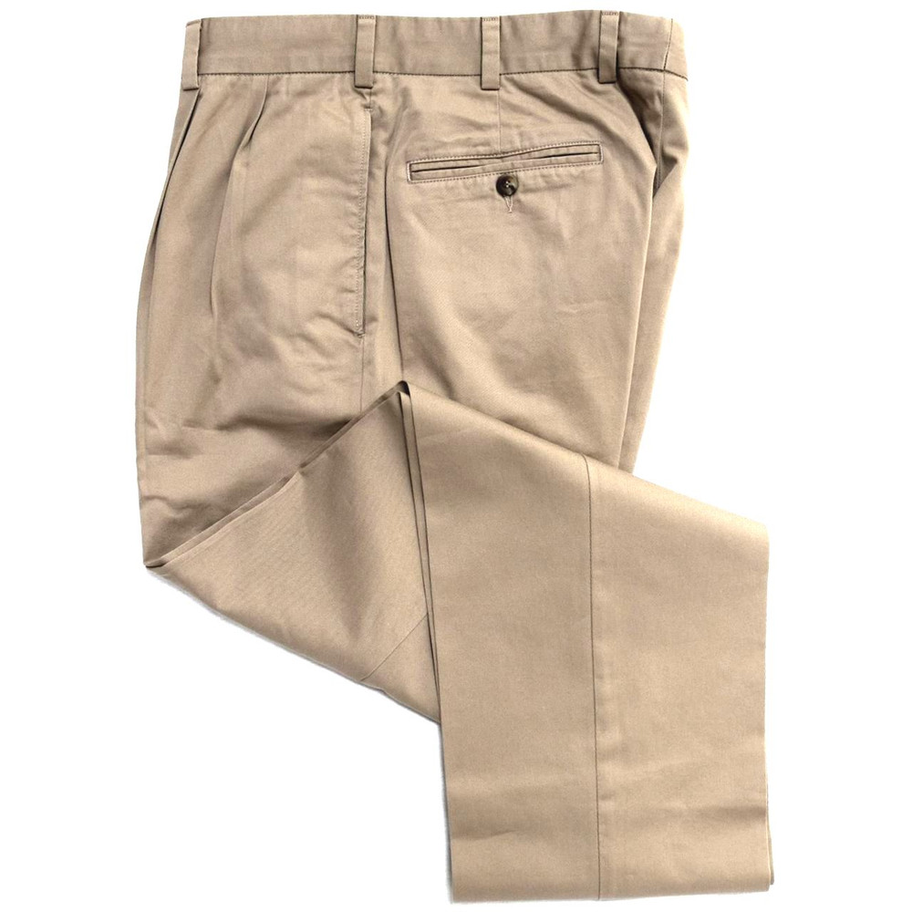 Travelers Twill Pant - Model F2P Standard Fit Reverse Pleat in Fawn (Size 38 Only) by Hansen's Khakis