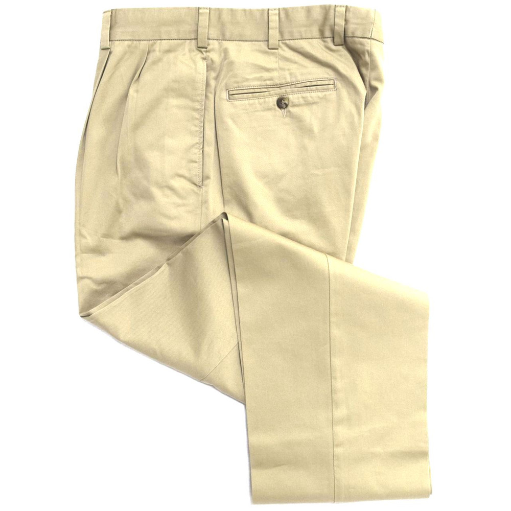 Travelers Twill Pant - Model F2P Standard Fit Reverse Pleat in Wheat (Sizes 36 and 38 Only) by Hansen's Khakis