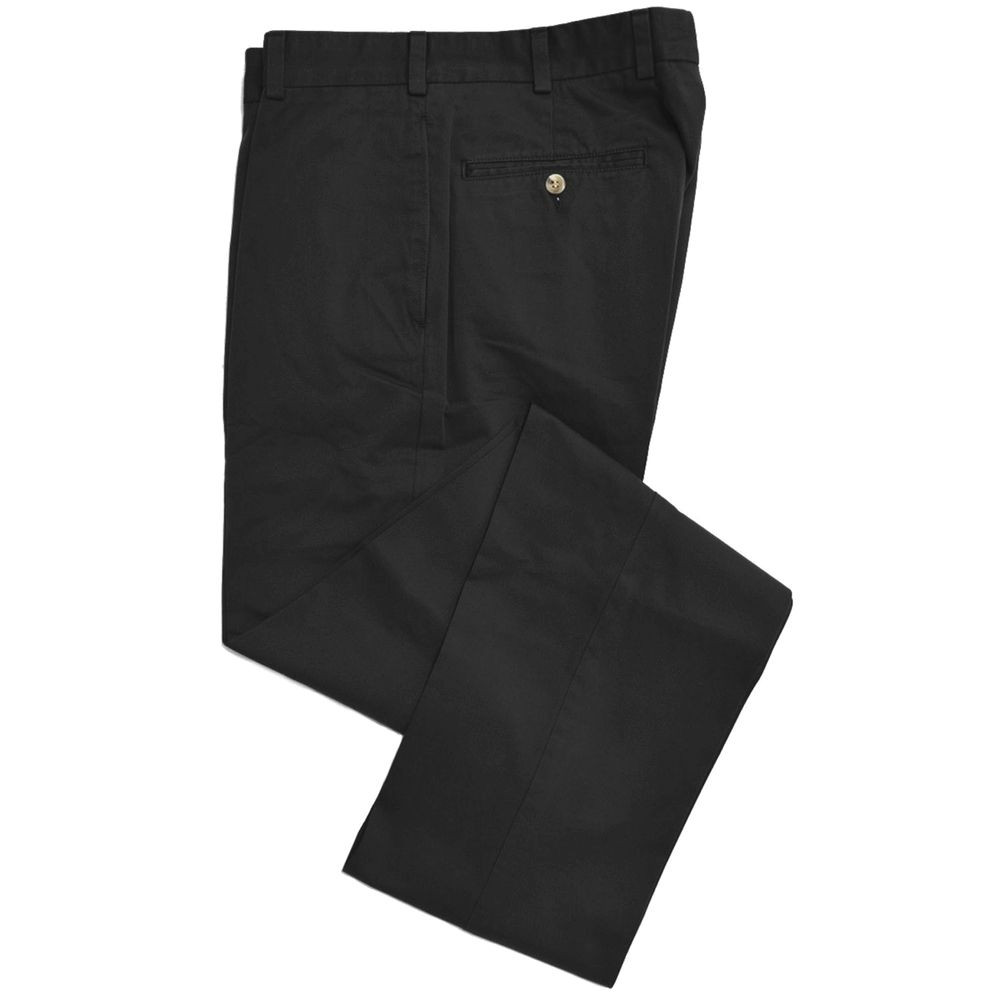 Travelers Twill Pant - Model F2 Standard Fit Plain Front in Black (Size 42 Only) by Hansen's Khakis