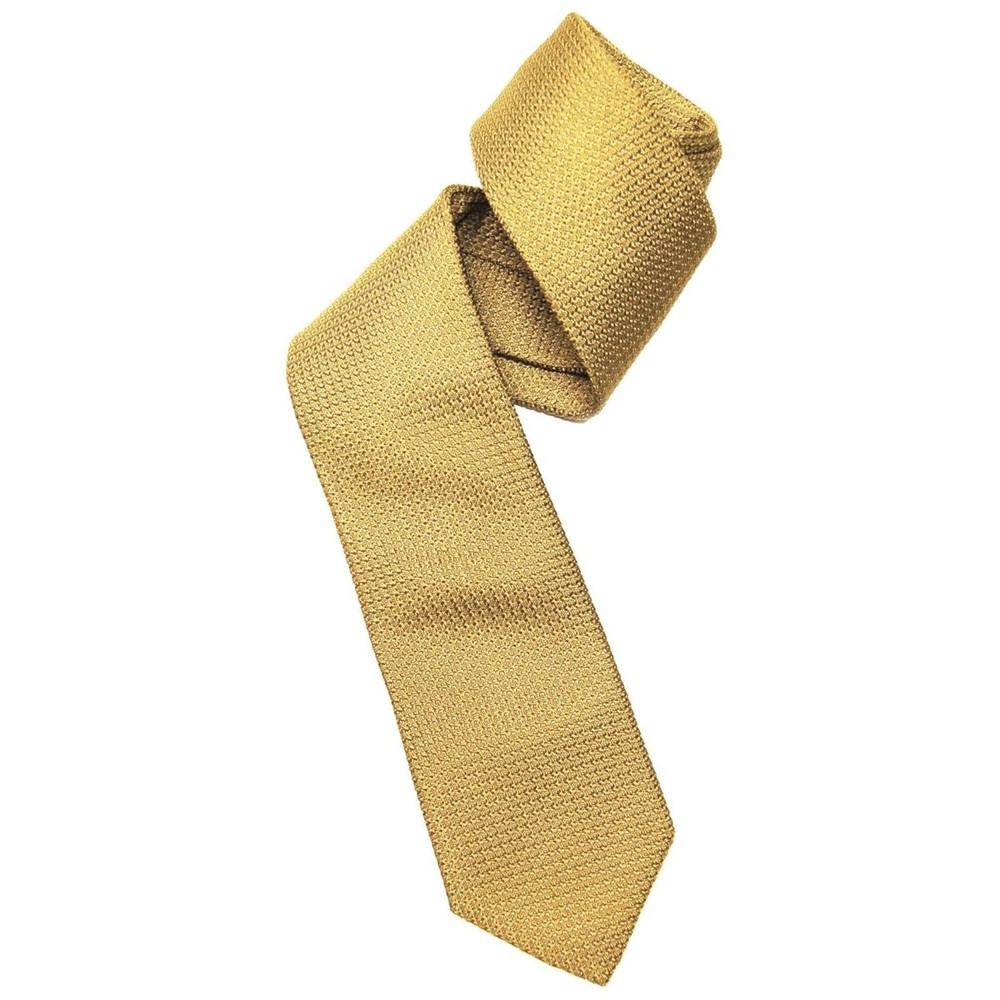Fall 2017 Best of Class Gold 'Super Grenadine' Woven Silk Tie by Robert Talbott