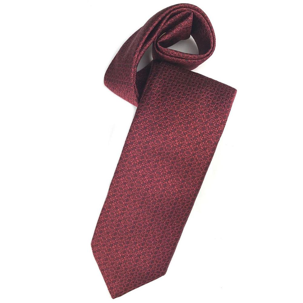 Fall 2017 Ruby Geometric 'Ambassador' Silk Estate Tie by Robert Talbott