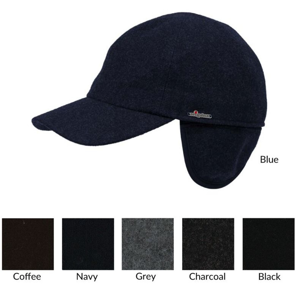 Classic Baseball Melton Cap with Earflaps in Choice of Colors by Wigens 17146b09159