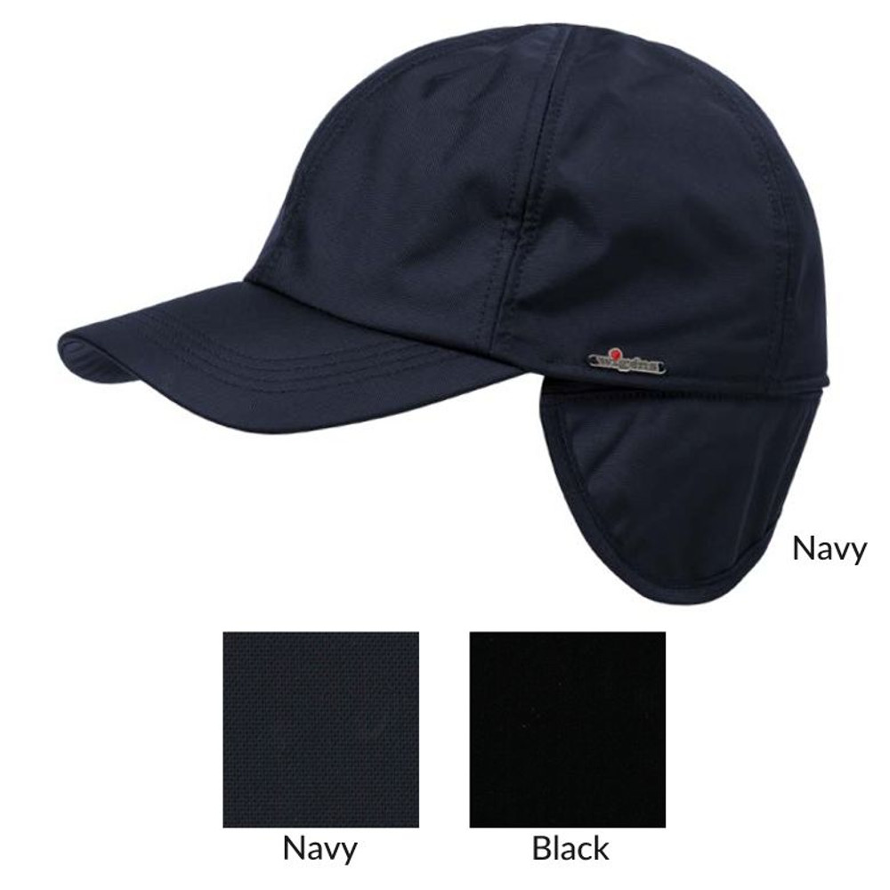 Classic Baseball Nylon Cap with Earflaps and Pile Lining in Choice of  Colors by Wigens 48263c53785
